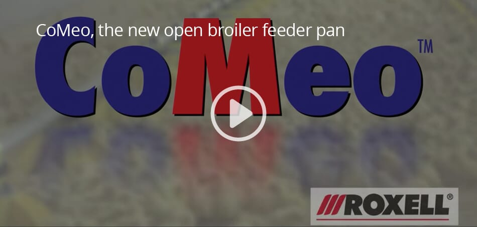 CoMeo, the new open broiler feeder pan