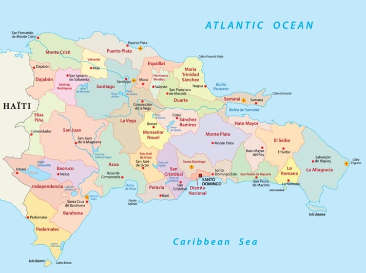 The Dominican Republic is divided into 31 provinces