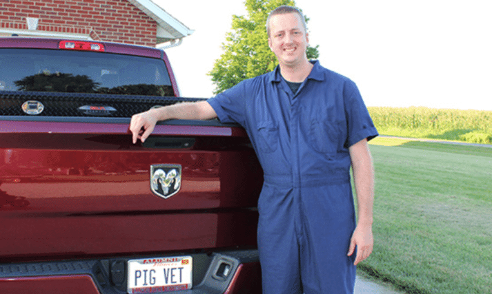 Will Fombelle, DVM, with Carthage Veterinary Service