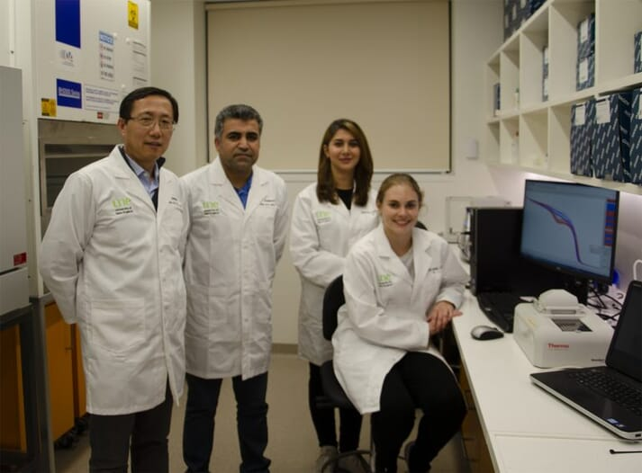 Research team: Associate Professor Shubiao Wu, Dr Sarbast Kheravii, Dr Kosar Gharib-Naseri, and PhD student Ashley England