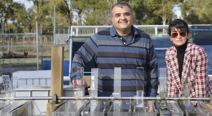 Associate Professor Navid Moheimani and Professor Parisa A. Bahri from Murdoch University have begun an ambitious research study to clean abattoir wastewater and convert into useable products