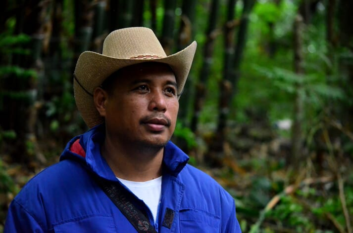 Chief ranch-hand Jim Cabacungan is Governor Carlos Padilla's top man at Sitio Anting