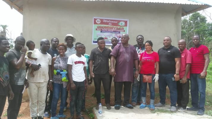 Participants at Pristine Farm Resources course for pig farmers at Ibadan, Nigeria