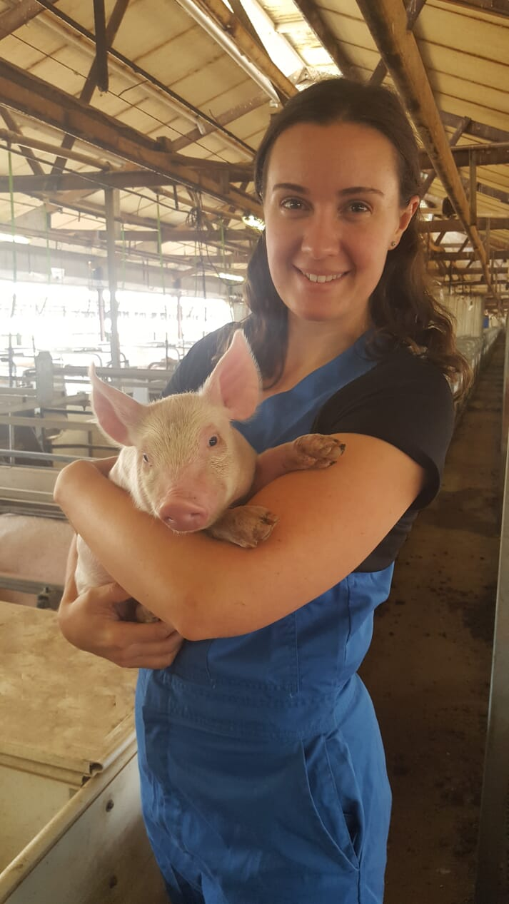 APRIL IPP Sofie Pridgeon, Wasleys Piggery, SunPork Farms, South Australia.