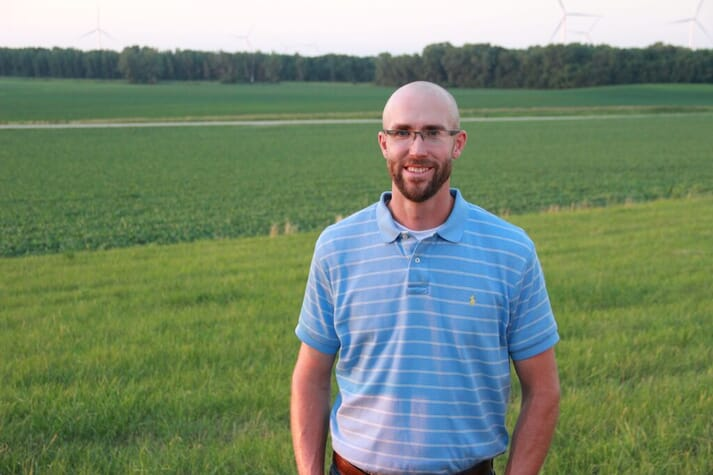 Thomas Titus is a finalist for America's pig farmer of the year