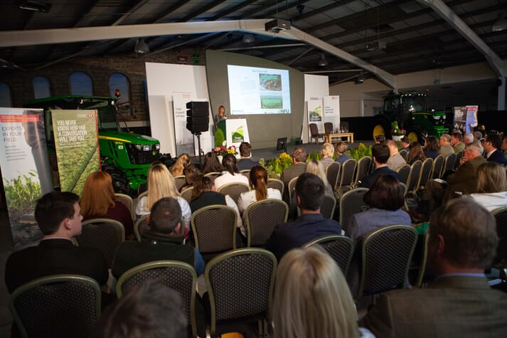 a seminar at the three counties farming conference 2018