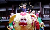 The Year of the Pig is widely celebrated across China. Lantern sculptures, such as this one in the Yuyuan Shopping Center, Shanghai, are huge tourist attractions. The bigger, the better! thumbnail