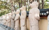 Statues of the 12 Chinese zodiacs stand proudly outside Haedong Yonggung Temple. The Year of the Pig follows the Year of the Dog and precedes the Year of the Rat. thumbnail
