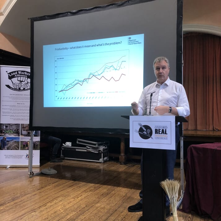Tim Mordan, DEFRA, discusses the meaning of productivity and how we can improve productivity while looking after the environment
