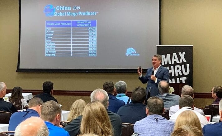Guest Speaker- Jim Long President-CEO- Genesus Inc. Speaking about African swine fever (ASF) China crisis and its anticipated impact on global markets