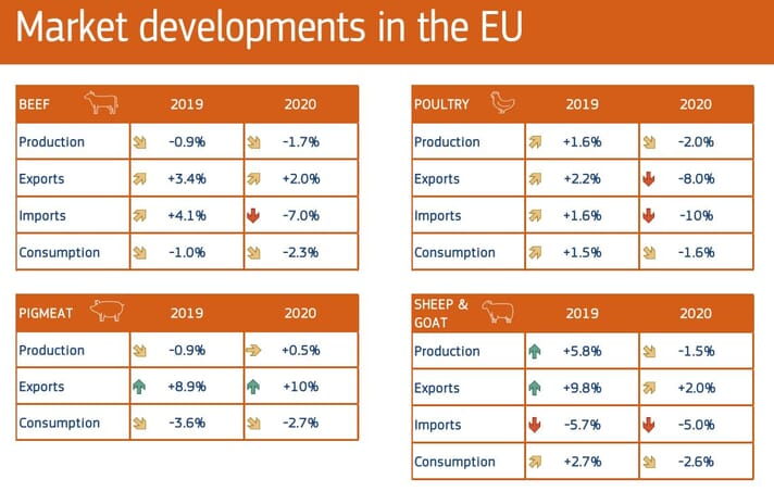 Short-term Outlook for EU Agricultural Markets in 2020 released by the European Commission