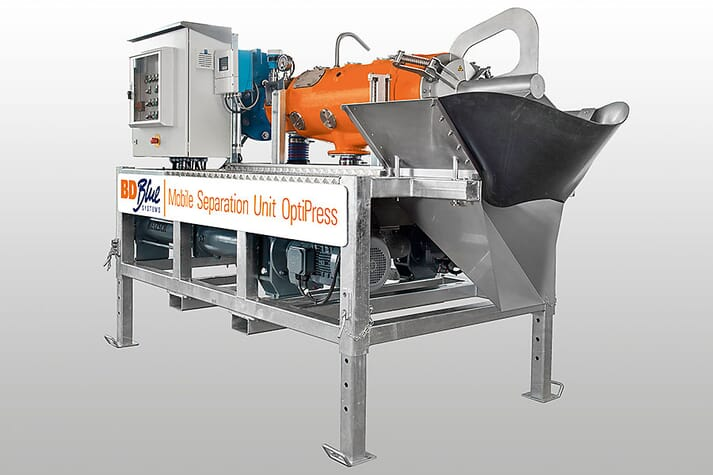 The mobile screw press OptiPress filtration system