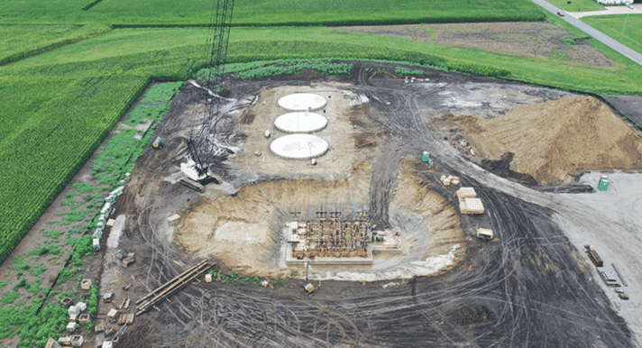 construction site of the Feed Technology Centre Illinois