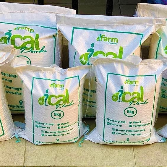 Ingenious Farms produces calcium to supplement feed and for use as a fertiliser