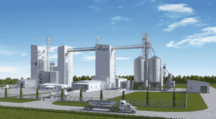 Rendering of the feed processing facility