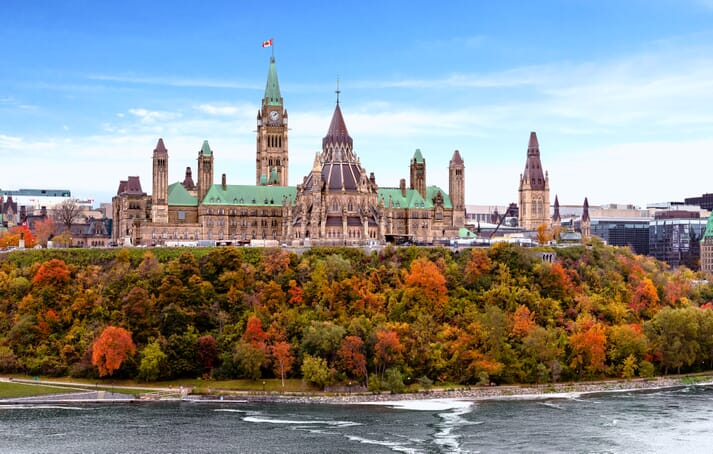 Canada's Parliament Hill in the Autumn