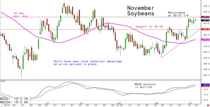 Bulls have near-term technical advantage as price uptrand in place