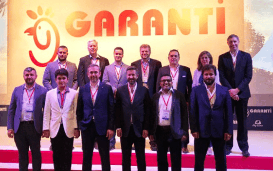 Representatives from Hy-Line and Garanti Tavukculuk pose for a photo during the seminar in Istanbul