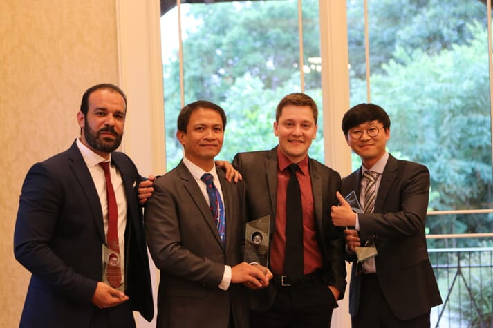 From left: Dr Ahmed Gamal Elnaby, Ross Abraham, Vinicius Duarte and Byoungyoon Kim