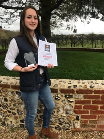 Victoria Axon of Cobb Europe, winner of the award for Young Farmer of the Year at the 2020 National Egg & Poultry Awards