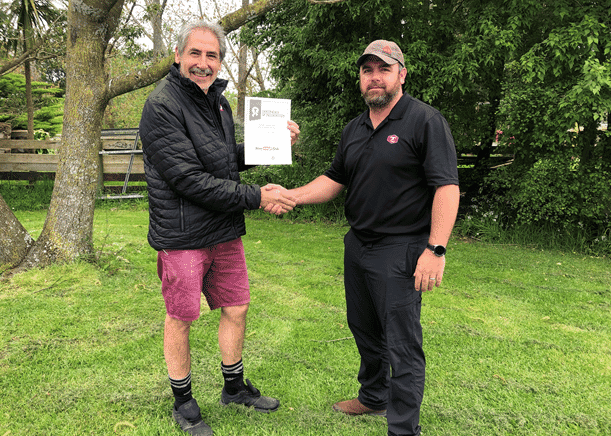 From left: Muhannad Juma, Farming Operations Manager, Inghams NZ; Debbie Fisher, Technical Services Manager, Aviagen ANZ; Dave Syme, top EPEF Result for Inghams NZ; Morgan Willing, General Operations Manager, Inghams NZ