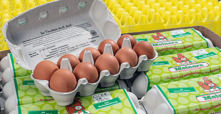 Egg production with split feeding: The egg shell quality has improved.