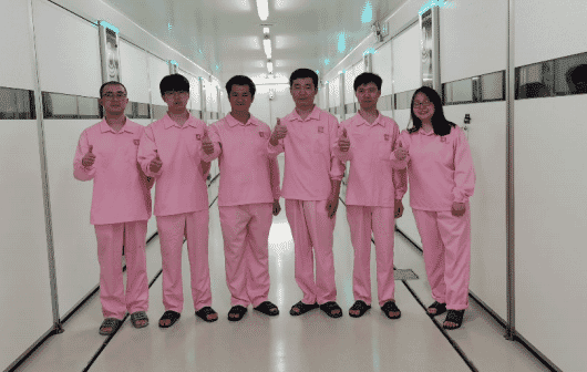 Fujian Sunnzer's team at the GP hatchery for the first egg setting