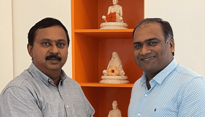 Partners in growth: L-R: Pradeep Kumar, Director of Kasturi Poultry Farms and Venkatesh Venkitakrishnan, Royal Pas Reform country manager India.