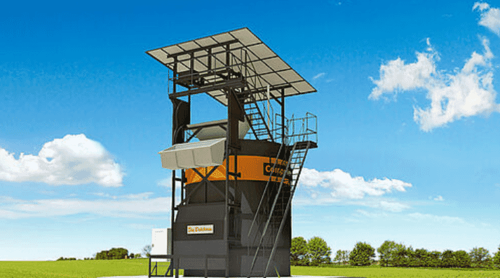 The vertically enclosed high-quality fermenter CompoTower