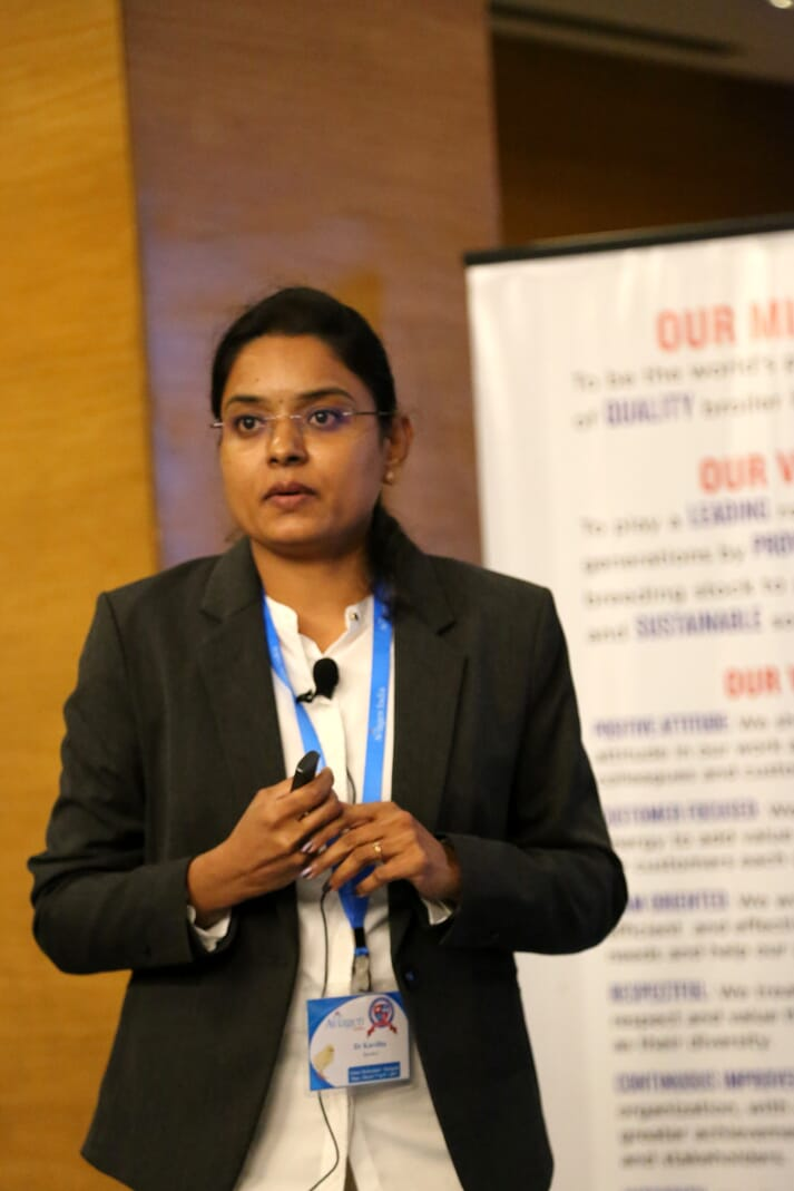 Dr. Natarajan Kavitha, DVM and Head of Veterinary Services and Director for Aviagen's R&D laboratory in India