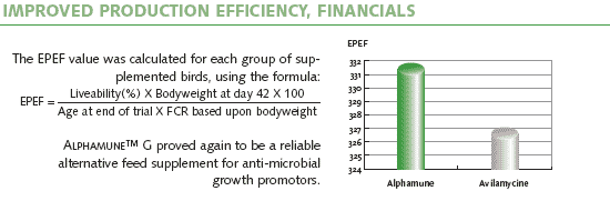 Improved Production Efficiency, Financials