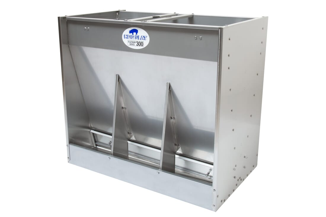 Hog Slat Wean-to-Finish Feeder: Double-sided 3-space Platinum Series 300