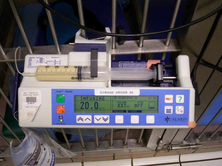 Nutritional support can be given via continuous rate infusion