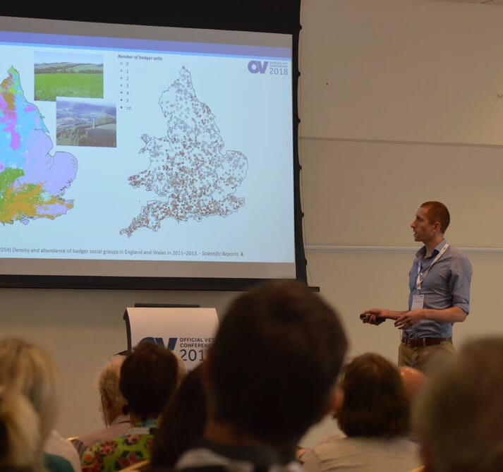 Andy Robertson gave delegates a crash course in badger ecology