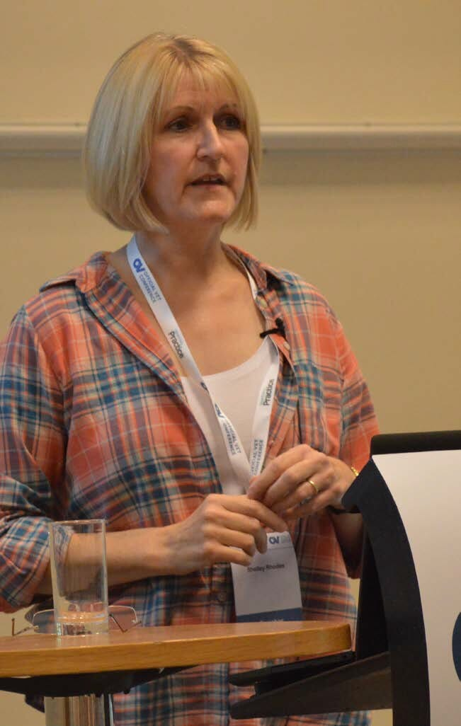 Shelley Rhodes described testing options for TB in camelids